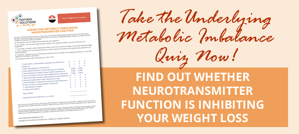 Is Neurotransmitter Function your Metabolic Imbalance?